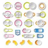 Tomma infographicsbeståndsdelar. Mall för modern design. Abstrakt rengöringsduk- eller diagramorientering Fotografering för Bildbyråer
