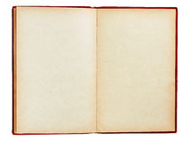 tomma isolerade gammala sidor för bok Royaltyfri Bild