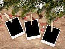 Tomma julfotoramar fotografering för bildbyråer