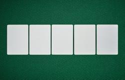 Tomma kort för poker på tabellen Royaltyfri Fotografi
