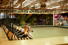 Tomma Luna Park på slutet av sommar Arkivfoto