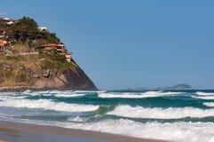 Tomma Pepe Beach i Rio de Janeiro Arkivbild