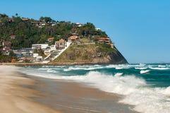 Tomma Pepe Beach i Rio de Janeiro Arkivfoto