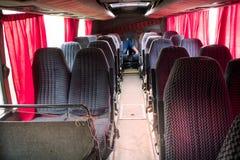 Tomma platser för busslopp i kabin Royaltyfria Bilder