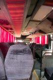 Tomma platser för busslopp i kabin Royaltyfri Fotografi