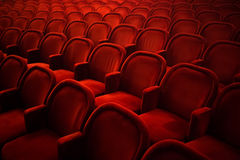 Tomma platser i bio eller teater Royaltyfri Foto