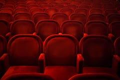 Tomma platser i bio eller teater Arkivbild
