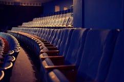 Tomma platser i en tom teater Royaltyfri Fotografi