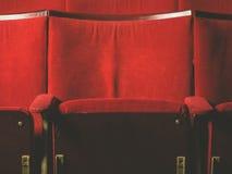 Tomma platser i filmbiograf Arkivbild