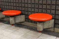 Tomma platser på tunnelbanastationen Royaltyfri Fotografi