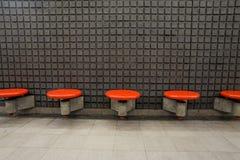 Tomma platser på tunnelbanastationen Royaltyfri Bild