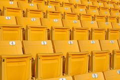 Tomma stadionåskådarläktare Royaltyfri Foto