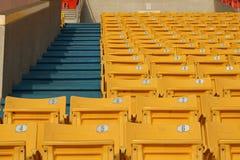 Tomma stadionåskådarläktare Arkivbilder