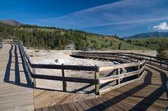 Tomma strandpromenader på Mammoth Hot Springs Royaltyfria Bilder