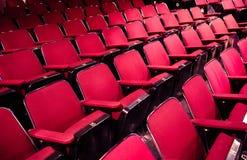 Tomma teater/cinema platser Royaltyfri Foto