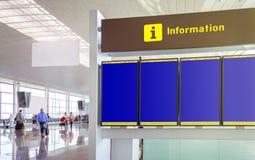 Tomma tider för flyg för informationspanel i Royaltyfria Bilder