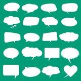 Tomma tomma vita anförandebubblor Stock Illustrationer