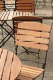 tomma trottoartabeller för cafe Royaltyfri Foto