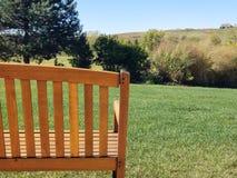 Tomma utomhus- Adirondack stolar Arkivbild