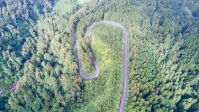 Tomma vägar i bygden - Azores - Portugal Royaltyfri Foto