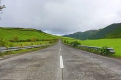Tomma vägar i bygden - Azores - Portugal Royaltyfria Bilder