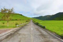 Tomma vägar i bygden - Azores - Portugal Arkivbild