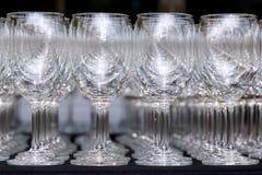 Tomma wineexponeringsglas Arkivbilder