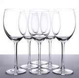 tomma wineglasses Royaltyfri Bild