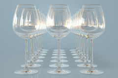 tomma wineglasses Royaltyfria Foton