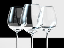 tomma wineglasses Royaltyfria Bilder