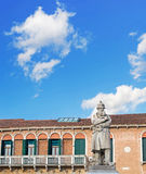 Tommaseo statue on a cloudy day Royalty Free Stock Image