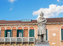 Tommaseo statue on a cloudy day Stock Photography