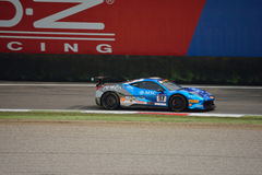 Tommaso Rocca Ferrari 458 Challenge Evo at Monza. Tommaso Rocca drives his Ferrari 458 Challenge Evo during the first race of Pirelli Trophy 2016 for Rossocorsa Royalty Free Stock Photos