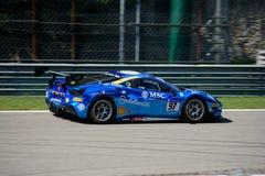 Tommaso Rocca Ferrari 488 utmaning Fotografering för Bildbyråer