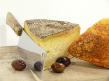Tomme de Savoie Stock Photo