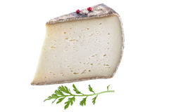 Tomme de Savoie, a semi firm french cheese Stock Photography