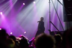 Tommy Cash som utför en levande rapshow Arkivfoto