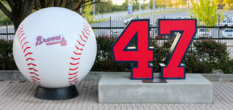Tommy Glavine Tribute Royalty Free Stock Image