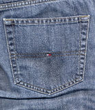Tommy Hilfiger blue jeans Royalty Free Stock Image