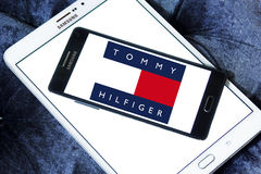 65dc11ec0 Tommy hilfiger logo. Logo of fashion company tommy hilfiger on samsung  mobile phone a5 on