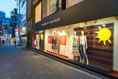 Tommy Hilfiger storefront. SEOUL, SOUTH KOREA - CIRCA MAY, 2017: a Tommy Hilfiger storefront in Seoul Stock Photos
