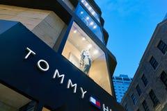Tommy Hilfiger storefront. SEOUL, SOUTH KOREA - CIRCA MAY, 2017: a Tommy Hilfiger storefront in Seoul Royalty Free Stock Images