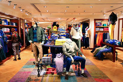 Tommy hilfiger winter clothing. The outlet of stylish and sophisticated brand, tommy hilfiger displaying winter clothing at harbour city shopping mall in hong Royalty Free Stock Photography