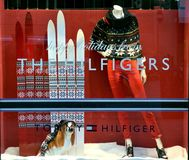 Tommy Hilfiger winter luxury fashion shop Royalty Free Stock Photography