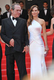 Tommy Lee Jones & Hilary Swank. CANNES, FRANCE - MAY 18, 2014: Tommy Lee Jones & Hilary Swank at the gala premiere of their movie The Homesman at the 67th Stock Photo