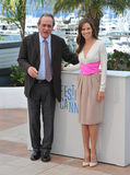 Tommy Lee Jones & Hilary Swank. CANNES, FRANCE - MAY 18, 2014: Tommy Lee Jones & Hilary Swank at the photocall for their new movie The Homesman at the 67th Stock Photo