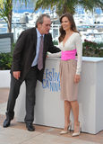 Tommy Lee Jones & Hilary Swank. CANNES, FRANCE - MAY 18, 2014: Tommy Lee Jones & Hilary Swank at the photocall for their new movie The Homesman at the 67th Royalty Free Stock Photos