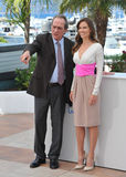 Tommy Lee Jones & Hilary Swank. CANNES, FRANCE - MAY 18, 2014: Tommy Lee Jones & Hilary Swank at the photocall for their new movie The Homesman at the 67th Royalty Free Stock Image
