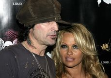 Tommy Lee and Pamela Anderson Stock Image