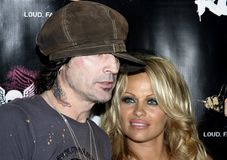 Tommy Lee and Pamela Anderson Royalty Free Stock Photography